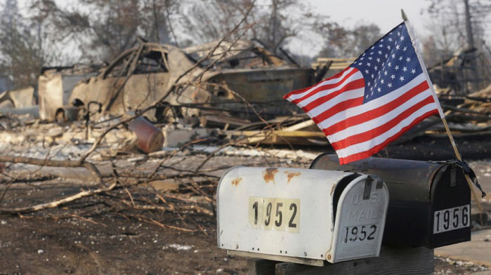 THE CALIFORNIA WILDFIRES IN PICTURES