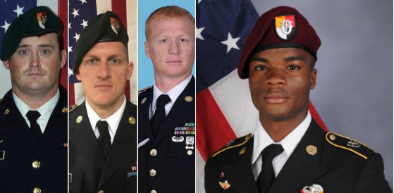 5 DAYS SINCE 4 SOLDIERS WERE KILLED IN NIGER, NO OFFICIAL STATEMENT FROM WH OR PRESIDENT