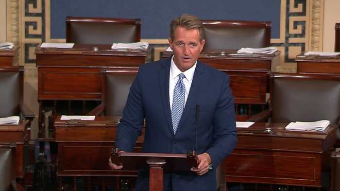JEFF FLAKE SCORCHES TRUMP IN SENATE RETIREMENT SPEECH