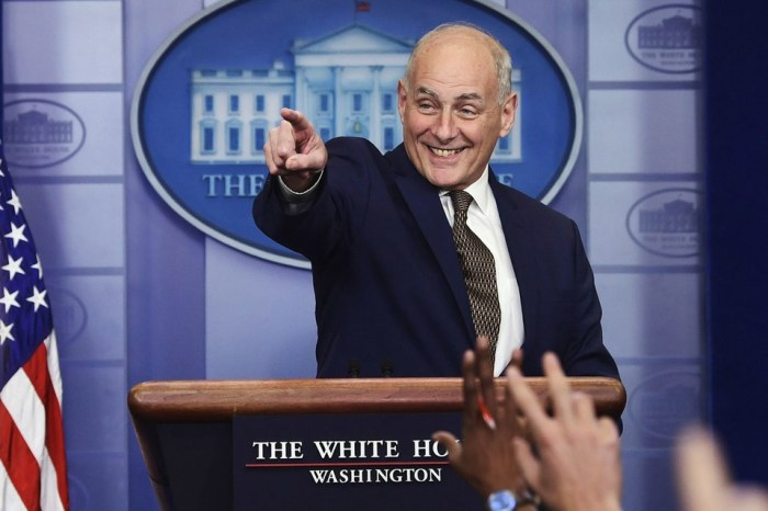 JOHN KELLY INSISTS HE DOESN'T WANT TO QUIT