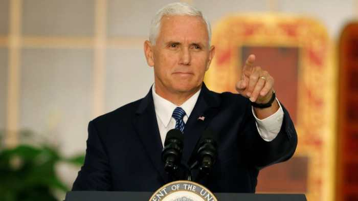 REPORT: TRUMP JOKED PENCE 'WANTS TO HANG' GAYS