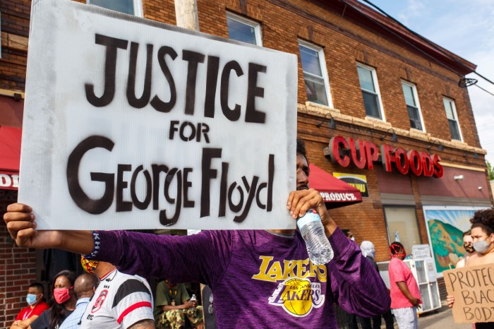 GEORGE FLOYD'S SISTER SAYS FIRING OFFICERS NOTENOUGH