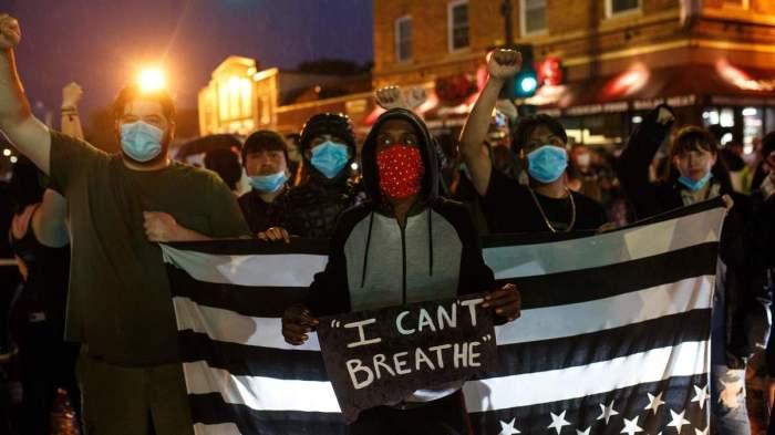 CONFLICT ERUPTS AT MINNEAPOLIS, L.A.PROTESTS