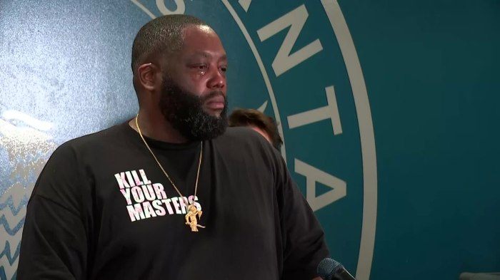 "RAPPER KILLER MIKE TEARFULLY TELLS ATLANTA PROTESTERS: ""I AM TIRED OF SEEING BLACK MENDIE"""