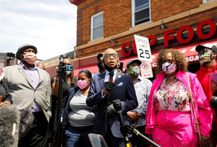 REV. AL SHARPTON, GWEN CARR CALL FOR ARREST OF OFFICERS INVOLVED IN GEORGE FLOYD'SDEATH