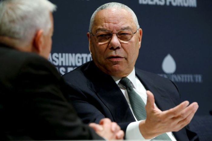 COLIN POWELL ENDORSES BIDEN