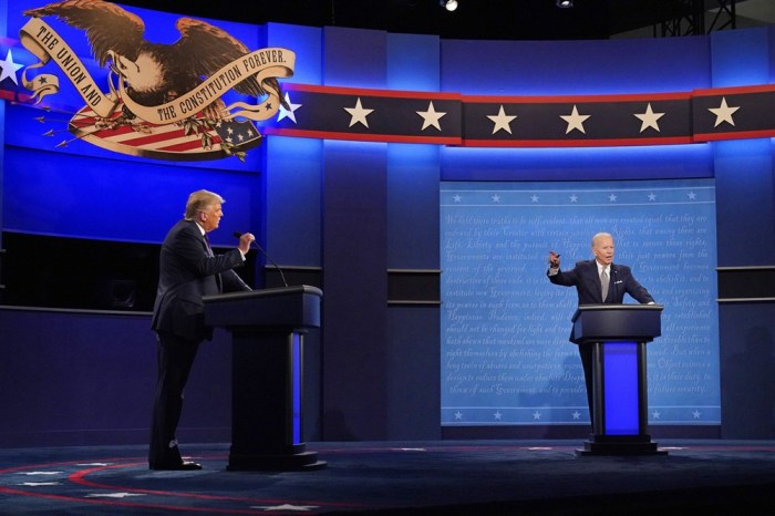 TRUMP AND BIDEN WILL HAVE MICS CUT DURING OPPONENT'S ANSWERS IN FINALDEBATE