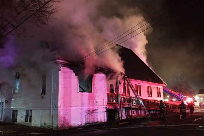 'HIGHLY SUSPICIOUS' FIRE AT BLACKCHURCH
